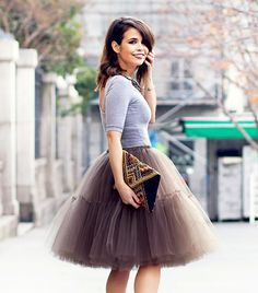 Feminine (ballet) skirts are all the rage! #tulle #ballerina #chic