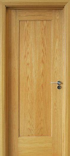 Shaker 1 Panel White Oak Door (40mm) | Internal & Interior Doors | Oak Doors