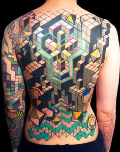 DeLaine Neo Gilma *InkedMagazine #geometric #shapes #tetris #tattoo #tattoos #inked