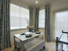 Full-length curtains can make your space appear larger!