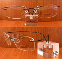 27fc094f7f92 Fashion IP Plating metal rimless optical frames Silhouette rimless Eyeglasses  frames  titanium glasses with the cases  187.37