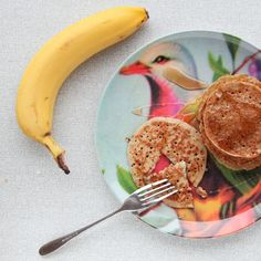 Snelle en gezonde havermout pannenkoekjes met banaan. Het beslag wordt in de blender gemaakt, erg makkelijk dus.