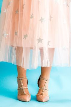 french blue and mint tulle skirts are recorded before