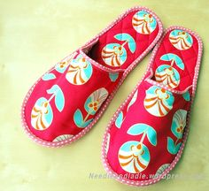 DYI quilted house shoes