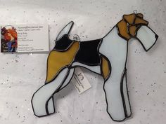 OOAK Stained Glass Airedale Terrier by HummingbirdStGlass on Etsy