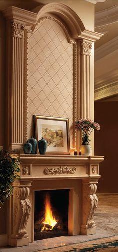Royal Cast Stone Fireplace Overmantel