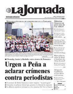 NEGOCIAN DRASTICO RECORTE AL CONTRATO COLECTIVO DE LOS PETROLEROS:DISIDENTES---Portada de 2015/08/17. Seleccione para ir a esta edición.