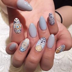 : ⊱✰⊰Blessed: ⊱✰⊰ @xoxojamm✨ Nail Polish Designs, Cute Nail Designs, Asian Nails, Vintage Nails, Space Nails, Minimalist Nails, Manicure Y Pedicure, Crazy Nails, Garra