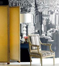 interior, chair, idé appart, yellow, random decor, fold screen, decor screen