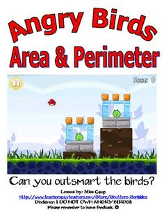 Teaching area and perimeter using Angry Birds