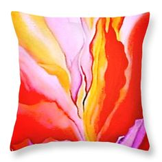 """floral study after Georgia OKeefe 16"""" x 16"""" Throw Pillow by Anna Porter.  Multiple sizes available."""