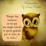 Frase del blog Reencuentro de Y. Luna Pintor http://reencuentroyolaluna.blogspot.mx/
