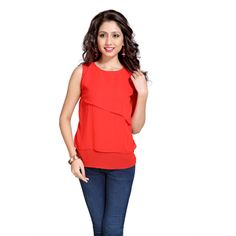 43cfb8806e7 Buy Eighteen 4ever Red Polyester Top by K M Apparels Pvt Ltd, on Paytm,  Price