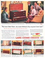 Lane 18th Century Chest 2221 1954 Ad. In Mahogany. Lane Table, model 386. See John Cameron Swayze on News Caravan and watch Vacationland Ame...