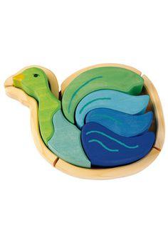 Kathe Kruse Wooden Jigsaw Puzzle Bird