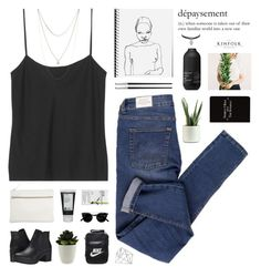 """""""all we know // tag"""" by flying-baby-unicorn ❤ liked on Polyvore featuring The Row, Cheap Monday, Lucky Brand, Park House, Steve Madden, Korres, Esse, NIKE, Topshop and Rich and Damned"""