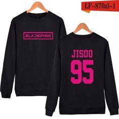KPOP Korean Fashion Sweatshirt Women Pullover Blackpink Letter Printed Hoodies JENNIE ROSE LISA Pink Fleece Hoodie Sudaderas