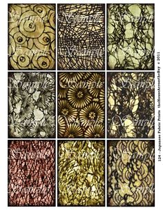 Japanese Fabric Digital Collage Sheet by theHouseAcrosstheBay