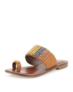 Stitchin Time Toe-Ring Sandal, Tan by Seychelles at Last Call by Neiman Marcus.