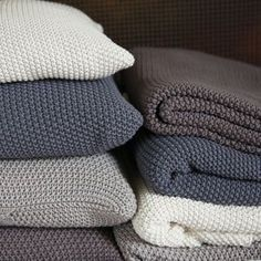 "Moss Stitch Cotton Throw | Introducing #Hygge – our favourite new excuse to snuggle under a chunky knit with a cup of cocoa. Pronounced ""hooga"", this Danish trend is all about embracing cosiness and enjoying the good things in life surrounded by your favourite people. That definitely sounds like something we can get on board with."