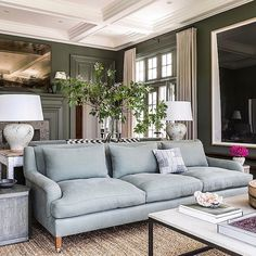 Stunning Ice Blue Living Room Design Ideas For Inspiration - Page 27 of 36 - Barrington News Home Living Room, Living Room Designs, Living Room Decor, Living Spaces, Design Salon, Home Trends, Home And Deco, Living Room Inspiration, Style Inspiration