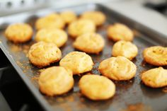 One of our favorite holiday recipes: Perfect for holiday pre-dinner bites, these cheese puffs seem impressive and taste delicious but are deceivingly easy to make. Appetizer Recipes, Snack Recipes, Cooking Recipes, Savory Snacks, Party Appetizers, Dip Recipes, Cheese Puffs, Easy Cheese, Gruyere Cheese