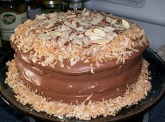 Almond Joy Cake: Similar to my recipe except she uses cocoa in place of chocolate chips. Going to try this version soon. Another one of my favorite Southern Cakes.
