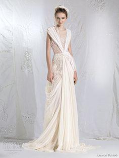 Raimon Bundo's scrappy and ghostly dresses.