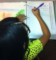 I got my writing binders together and the kids absolutely LOVE them! They feel like such big kids.