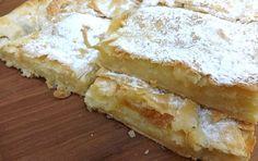 Homemade pie with fresh butter Greek Sweets, Greek Desserts, Greek Recipes, Cookbook Recipes, Pie Recipes, Cooking Recipes, Sweet Buns, Sweet Pie, Greek Cake