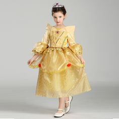 Retail Beauty And Beast Cosplay Dresses For Girls Belle Princess Kids Girl Costumes Christmas Halloween Costumes SMR005