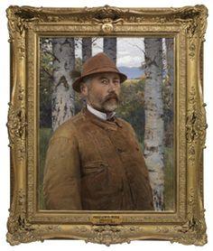 Szinyei Merse Pál (1845-1920) Önarckép bőrkabátban, 1897 - Galleria degli Uffizi, Firenze Festők a tükörben | Budapesti Történeti Múzeum