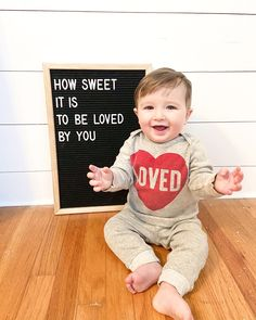 The cutest little valentine I ever did see ❤️ 6 Month Baby Picture Ideas Boy, One Month Baby, Baby Boy Pictures, Monthly Baby Photos, Monthly Pictures, Baby Messages, Milestone Pictures, Baby Letters, Valentines Day Baby