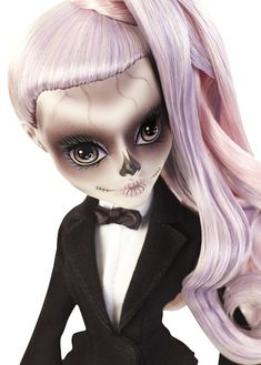 Lady Gaga Doll - Singer makes her Monster High debut as Zomby Gaga Soirée Monster High, Monster High Custom, Monster High Repaint, Monster High Dolls, Ooak Dolls, Blythe Dolls, Art Dolls, Lady Gaga Doll, Lady Gaga Photos