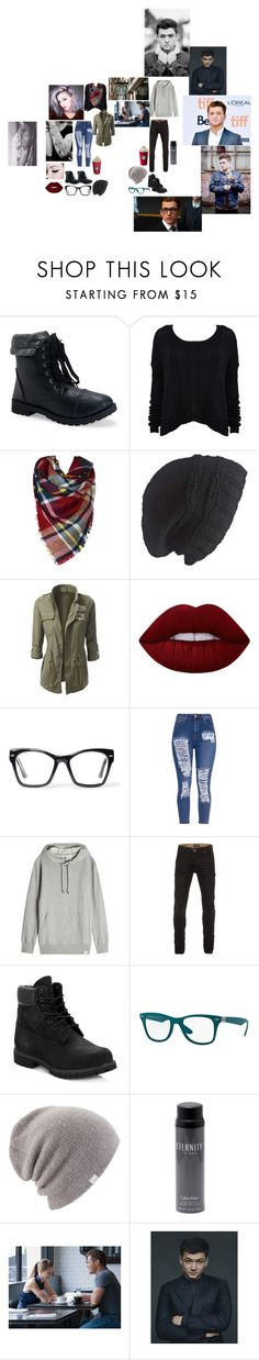 """""""Hazel and Elliot date wattpad"""" by alannahzoe on Polyvore featuring Aéropostale, Alice + Olivia, Laundromat, Lime Crime, Spitfire, adidas Originals, Timberland, Ray-Ban, Coal and Calvin Klein"""