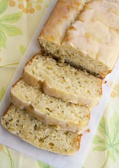 Lemon Zucchini Loaf with Lemon Glaze-this was very good. Want to try a sugar substitute next time. It was fun to have the zucchini and lemony tastes together. I changed the glaze only a little, adding a few TBL of melted butter. It is our fav lemon glaze since forever.