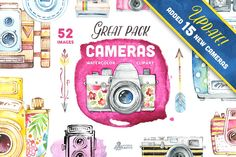 Great Pack! Cameras clipart by OctopusArtis on @creativemarket