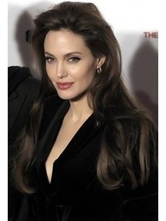 Take a look at the best Angelina Jolie makeup in the photos below and get ideas for your cute outfits! Kylie Jenner / Angelina Jolie lips without injections – makeup / lip tutorial from Mellifluous Mermaid – how to get… Continue Reading → Remy Human Hair, Human Hair Wigs, Angelina Jolie Peinados, Angelina Jolie Hairstyles, Angelina Jolie Makeup, Angelina Jolie Style, Brad And Angelina, Beautiful Celebrities, 50 Most Beautiful Women