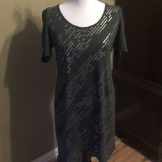 "Gray stylish 🍁🍂🍁🍂fall dress 🍁🍂🍁🍂 Gray Dress with squin details from shoulder to hem 35"" for material check out last picture it's a light sweater dress perfect for fall  👗🍁🍂 Delirious Dresses Midi"