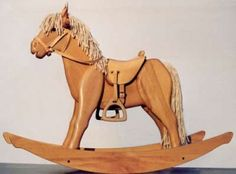 Build Free Wooden Rocking Horse Plans DIY aframe cabin plan no 381 Childrens Rocking Horse, Rocking Horses For Sale, Rocking Horse Plans, Wood Rocking Horse, Antique Rocking Horse, Wooden Horse, Woodworking For Kids, Woodworking Plans, Popular Woodworking