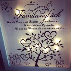 #handmade #becreative #geschenkidee #family #ilovemyfamily #ledrahmen #leuchtrahmen #LED #Tantehase  - tantehase