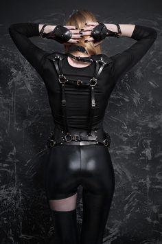 Morfey Black leather harness - Collection MORFEY