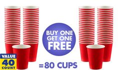 Plastic Red Shot Glasses 20ct - Party City