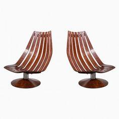 Vintage Palisander Lounge Stühle von Hans Brattrud, 1968, 2er Set