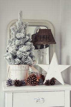 Inspiriert von der Weihnachtsausstellung, musste ich zu Hause natürlich gleich auch etwas Winterstimmung ins Haus holen.  ...