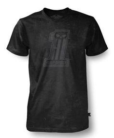 Harley-Davidson Men's Black Label Society Black Washed Out T-Shirt. 30291729