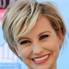 Short Haircuts For Round Faces And Thick Hair (View 10 of 20)