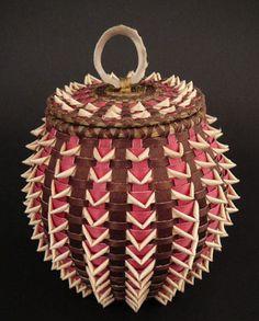 Native American Basket. Sarah Sockbasen, Penobscot basketmaker.