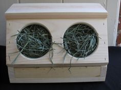 Rabbit Hay Box  Free Chew/Toss Toy included by TheBlissfulBunny, $40.00