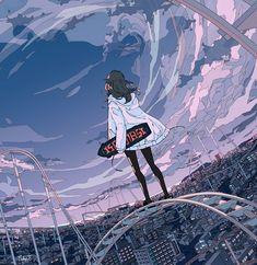 Wallpaper W, Anime Scenery Wallpaper, Cartoon Kunst, Cartoon Art, Pretty Art, Cute Art, Aesthetic Art, Aesthetic Anime, Arte Peculiar
